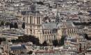 A Catedral Notre-Dame de Paris em foto no dia 15 de abril de 2019, dia do incêndio Foto: THOMAS SAMSON / AFP