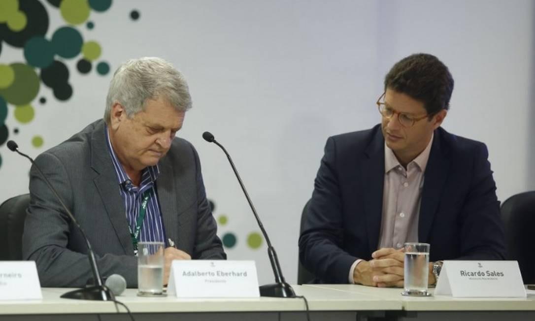 Adalberto Eberhard pediu demissão para o ministro Ricardo Salles Foto: Divulgação/MMA