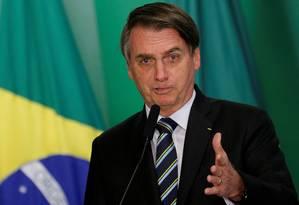 Presidente Jair Bolsonaro, em Brasília Foto: Adriano Machado / REUTERS