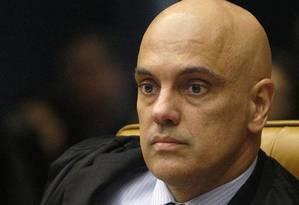 Alexandre de Moraes, autor da decisão Foto: Arquivo / Agência O Globo