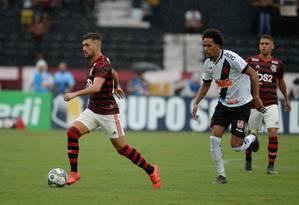 Arrascaeta em ação com a camisa do Flamengo contra o Vasco Foto: Alexandre Vidal/Flamengo / Alexandre Vidal/Flamengo