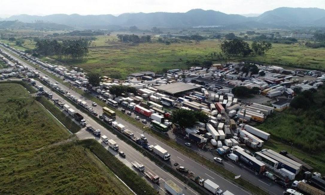Greve de caminhoneiros em maio de 2018 Foto: Renée Rocha - Agência O Globo