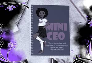 As ilustrações mostram, além de estudantes negras, bailarinas, médicas, sereias e professoras Foto: Arte de Laria Arantes sobre foto reprodução