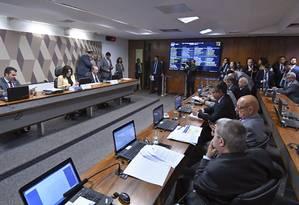 Sessão da Comissão de Constituição, Justiça e Cidadania do Senado Foto: Geraldo Magela/Agência Senado