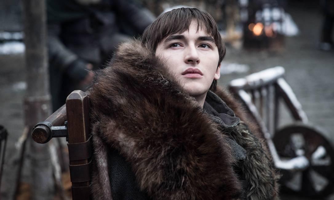 Bran Stark, personagem interpretado por Isaac Hempstead-Wright na 8ª temporada de Game of Thrones Foto: Divulgação / HBO