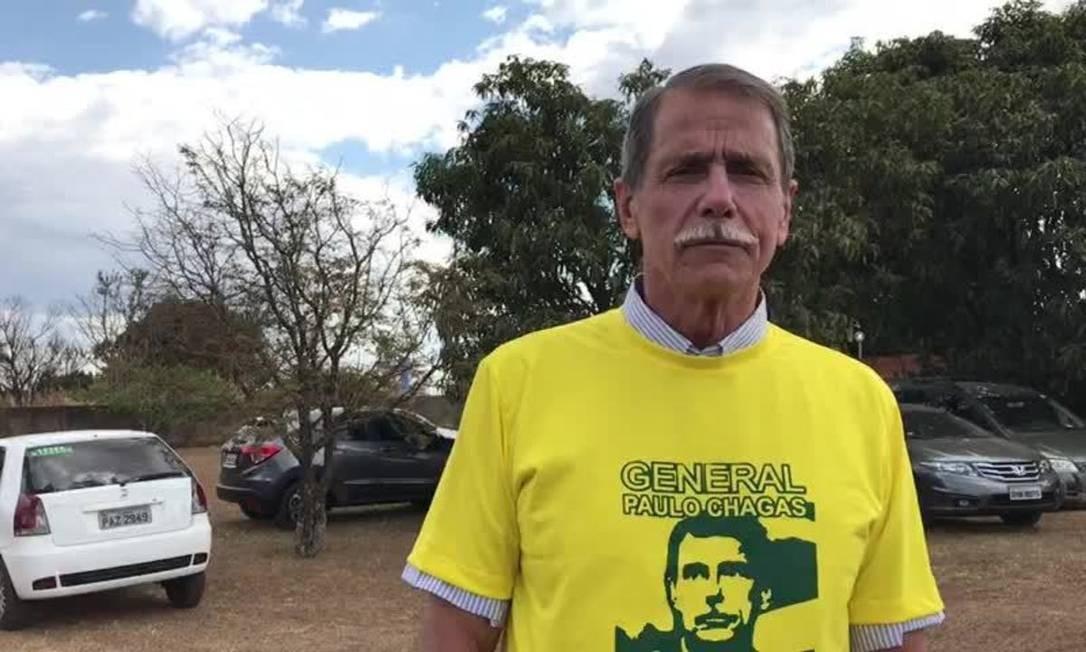 O general da reserva Paulo Chagas quando foi candidato ao governo do DF pelo PRP Foto: Reprodução