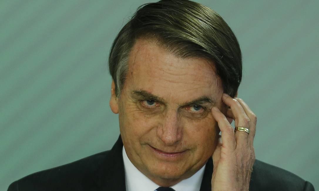 Articulação para queda do general não incomodou tanto assim o capitão Foto: Jorge William / Agência O Globo