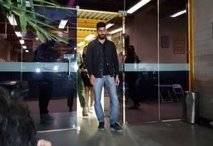 O presidente da associação de moradores da Muzema, Marcelo Diniz Anastacio Foto: Felipe Grinberg