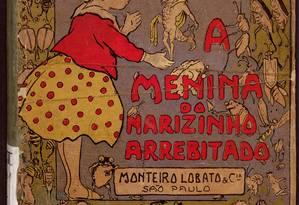 """Ilustração de Voltolino para o livro """"A menina do narizinho arrebitado"""", de 1920: um dos itens da mostra Foto: Divulgação"""