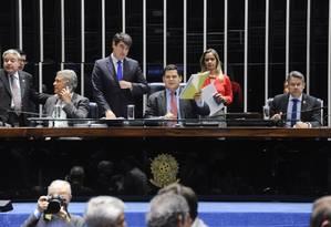 Davi Alcolumbre preside sessão do plenário Foto: Jonas Pereira/Agência Senado