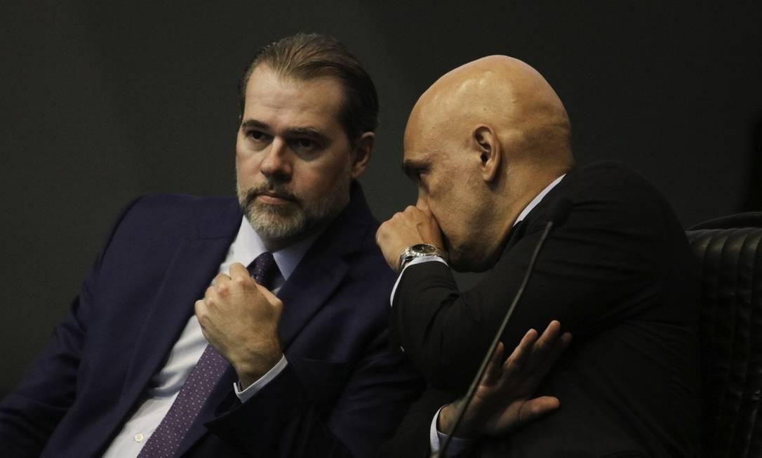 Dias Toffoli e Alexandre de Moraes, os protagonistas do inquérito do STF. Foto: Fabio Rodrigues Pozzebom / Agência Brasil