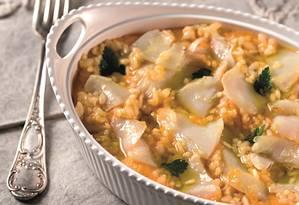 Aprenda a receita de risoto de bacalhau com abóbora de Claude Troisgrois Foto: Rodrigo Azevedo / Divulgação