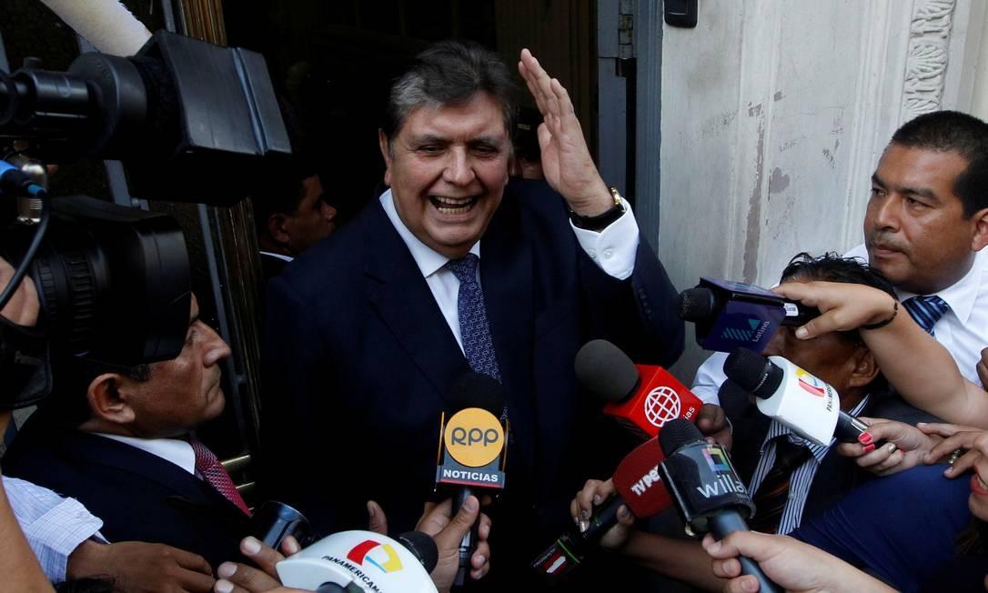 Ex-presidente do Peru, Alan García chega para depor no caso Odebrecht, em Lima Foto: Guadalupe Pardo 16-04-2017 / REUTERS