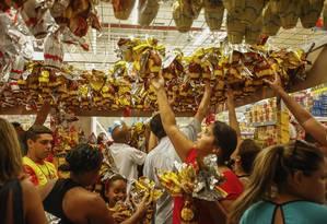 Ovos de Páscoa em supermercado Foto: Guilherme Leporace 27/03/2016 / Agência O Globo
