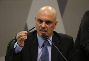Alexandre de Moraes participa de sabatina no Senado Foto: Ailton de Freitas/Agência O Globo/21-02-2017