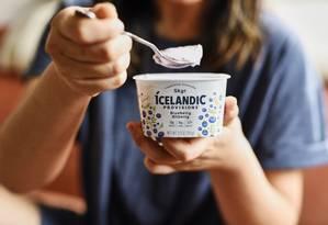 Iogurte viking, da Islândia, está na moda. Foto: Gabby Jones / Bloomberg