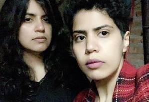 As irmãs sauditas Maha al-Subaie, de 28 anos, e Wafa al-Subaie, de 25 anos: em busca de refúgio Foto: Reprodução do Twitter