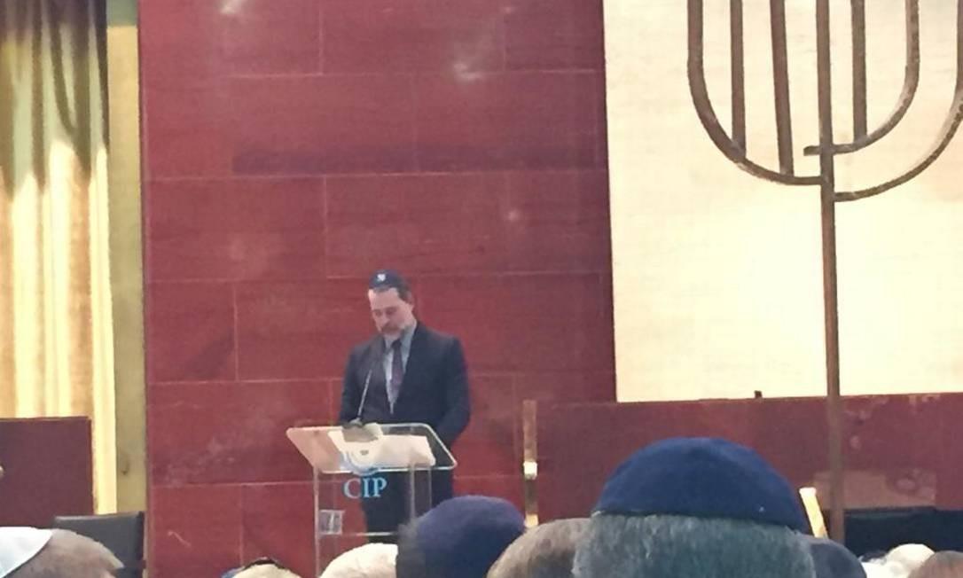 O presidente do Supremo Tribunal Federal, ministro Dias Toffoli, em palestra na Congregação Israelita Paulista Foto: Cleide Carvalho / Agência O Globo