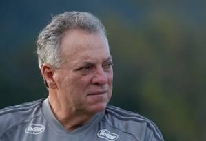 Abel durante treinamento do Flamengo Foto: Alexandre Vidal/Flamengo
