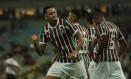 Luciano comemora o segundo gol do Fluminense contra o Santa Cruz Foto: Guito Moreto / Agência O Globo