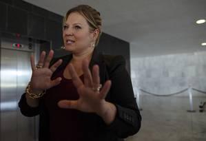 A líder do governo no Congresso, deputada Joice Hasselmann (PSL-SP) Foto: Daniel Marenco / Agência O Globo - 09-01-2019