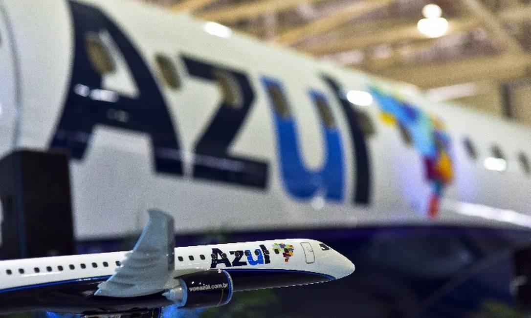 Azul é uma das companhias que cancelaram voos nesta terça em virtude da greve geral na Argentina Foto: Divulgação