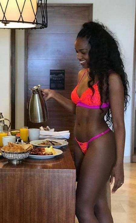 Lingerie e café da manhã Foto: Reprodução/ Instagram