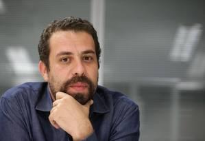 O então presidenciável Guilherme Boulos Foto: Márcio Alves / Agência O Globo