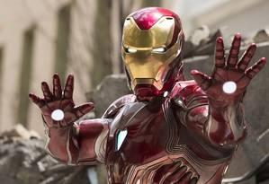 Homem de Ferro (Robert Downey Jr) em cena de 'Vingadores: ultimato' Foto: Divulgação
