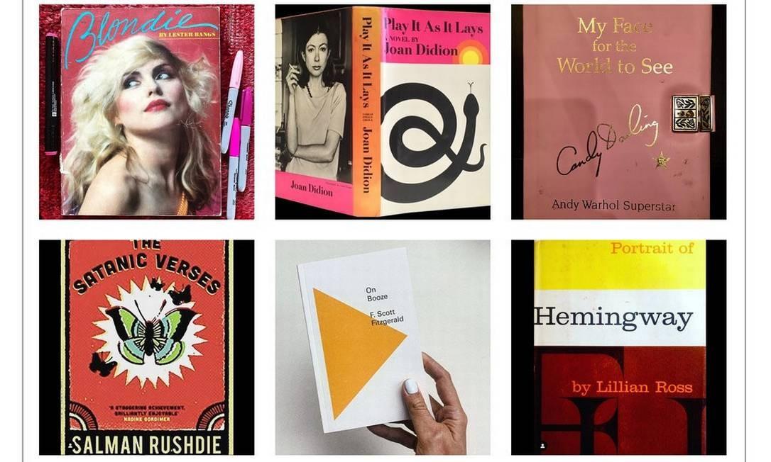 Algumas das capas de livros publicadas em jogo no Instagram Foto: Reprodução