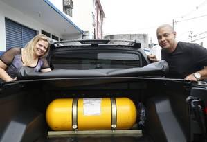 Gás natural veicular seria alternativa para caminhões e geraria mais investimentos para o país. Foto: Marcos Ramos / Agência O Globo
