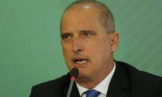 O ministro-chefe da Casa Civil, Onyx Lorenzoni: áudio para caminhoneiros. Foto: Jorge William / Agência O Globo