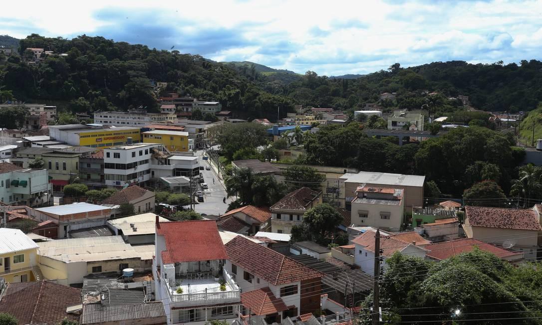 Mendes, cidade de 18 mil habitantes, fica a cem quilômetros do Rio Foto: Pedro Teixeira / Agência O Globo