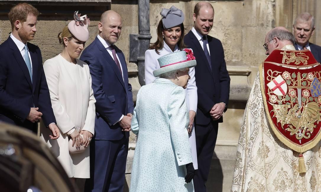 Nenhum sinal de Meghan Markle na reunião dominical da família real. Teria ela dado à luz? Foto: WPA Pool / Getty Images