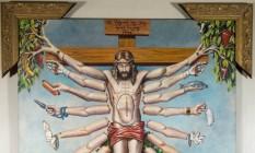 'Cruzando Jesus Cristo Deusa Schiva', de Fernando Baril (1996), parte do 'Queermuseu' Foto: Fernando Zago/StudioZ