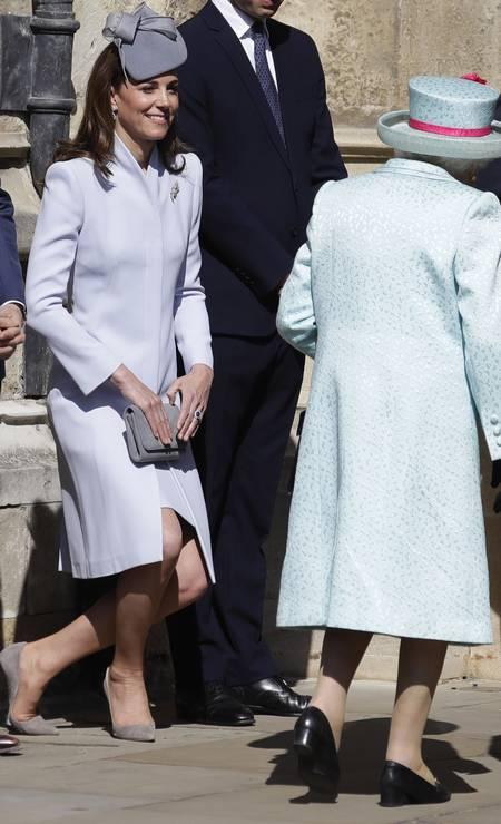 Kate Middleton: reverência à rainha Foto: WPA Pool / Getty Images