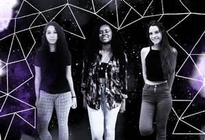 As três estudantes de ensino médio do Rio aprovadas no programa da National Flight Academy Foto: Ilustração de Lari Arante sofre montagem de fotos de arquivo pessoal