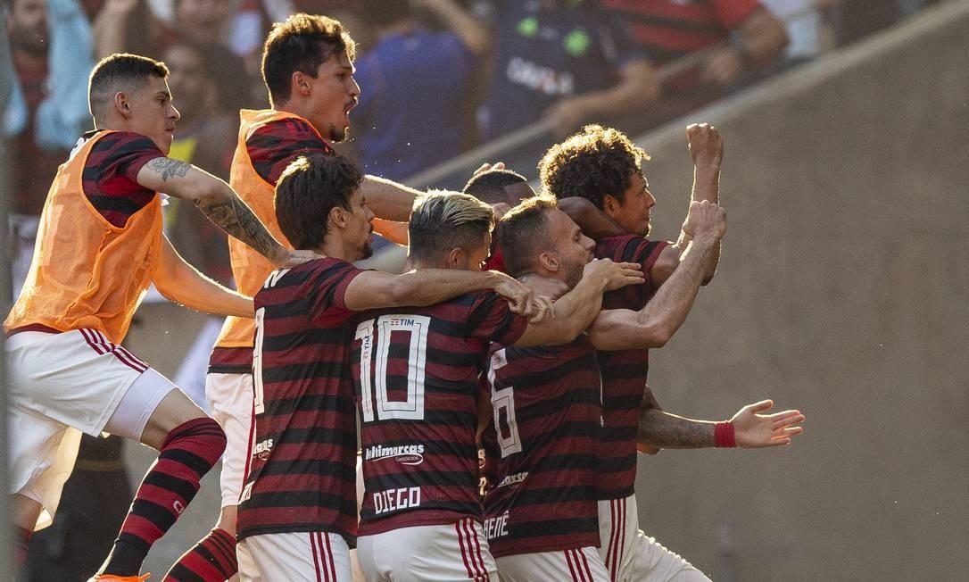 Gol de Willian Arão encaminhou o título rubro-negro no Maracanã Foto: Alexandre Cassiano