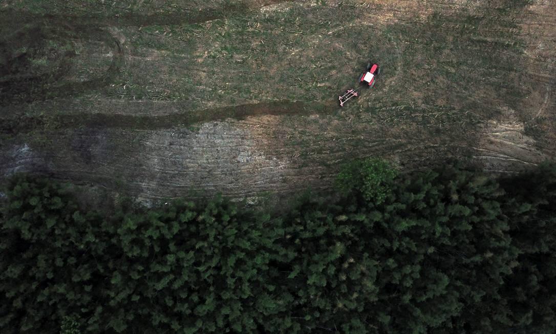 Remoção em assentamento quilombola na estrada São João Marcos, Mangaratiba Foto: Custódio Coimbra / Agência O Globo