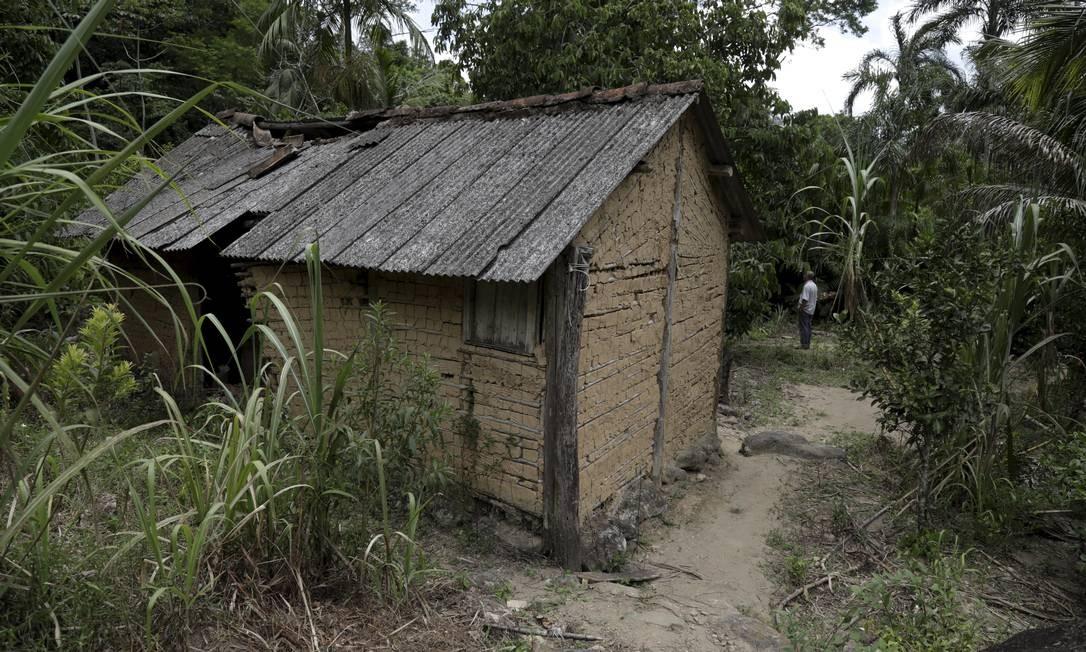Uma das casas no quilombo da estrada São João Marcos Foto: Custódio Coimbra / Agência O Globo