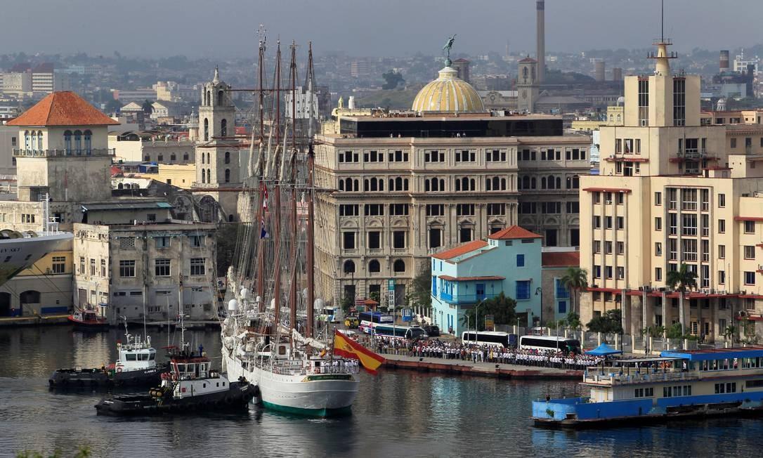 Visão de Havana, a capital de Cuba, a partir do porto Foto: STRINGER / REUTERS