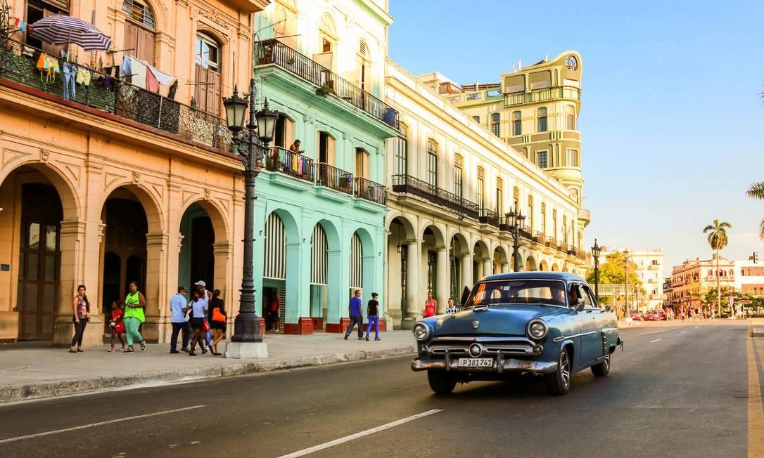Havana, a capital de Cuba, preserva visual antigo Foto: Bruno Barreto /
