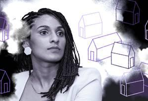 """Gabriela Matos criou o projeto """"Arquitetas Negras"""", que terá como ação inicial a produção da primeira revista brasileira com conteúdo pensado e produzido exclusivamente por elas Foto: Arte de Lari Arantes sobre foto de divulgação"""
