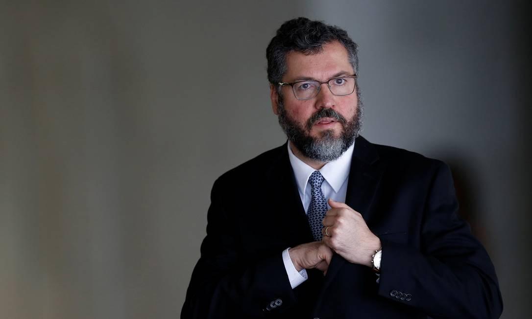 O chanceler brasileiro Ernesto Araújo cumpriu agenda segunda-feira em Washington Foto: Adriano Machado / Agência O Globo