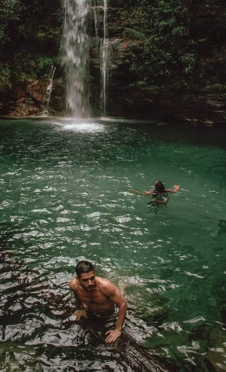 Com águas muito claras, a cachoeira de Santa Bárbara é uma das mais bonitas do parque Foto: Acervo pessoal