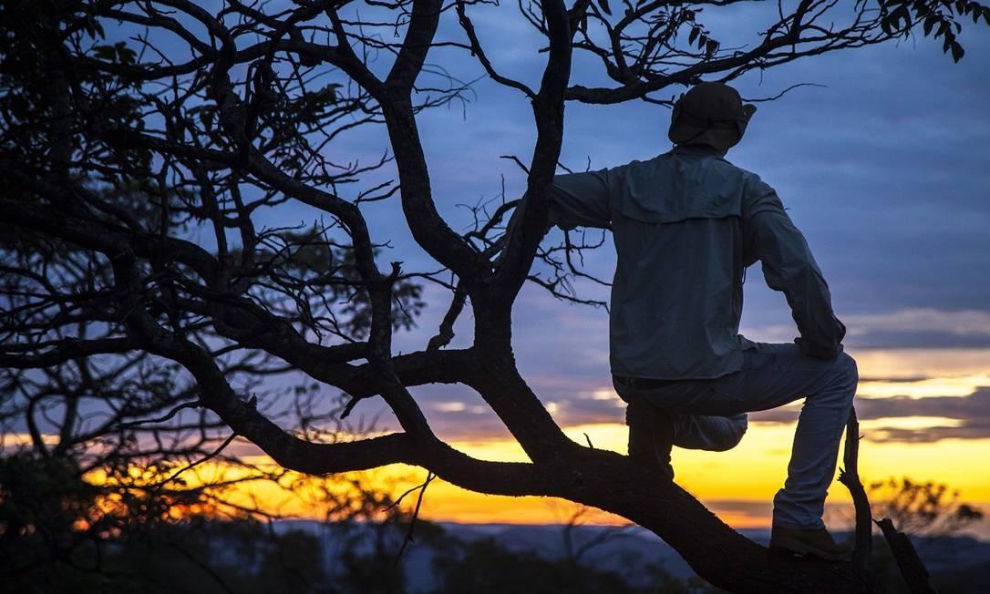 O momento do pôr do sol é um dos mais apreciados por quem visita a região Foto: Hermes de Paula / Agência O Globo