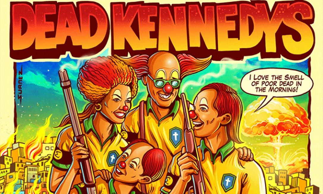 Pôster da turnê da banda Dead Kennedys no Brasil Foto: Reprodução
