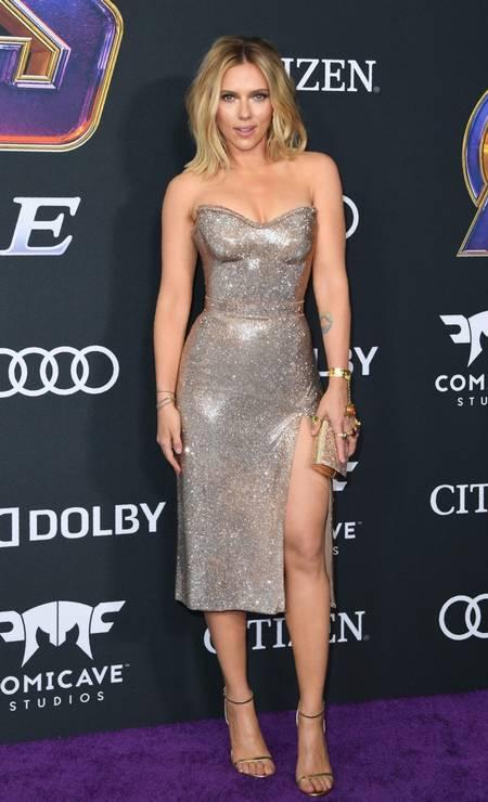 Scarlett Johansson, a Viúva Negra, era uma das mais sexy da noite Foto: VALERIE MACON / AFP