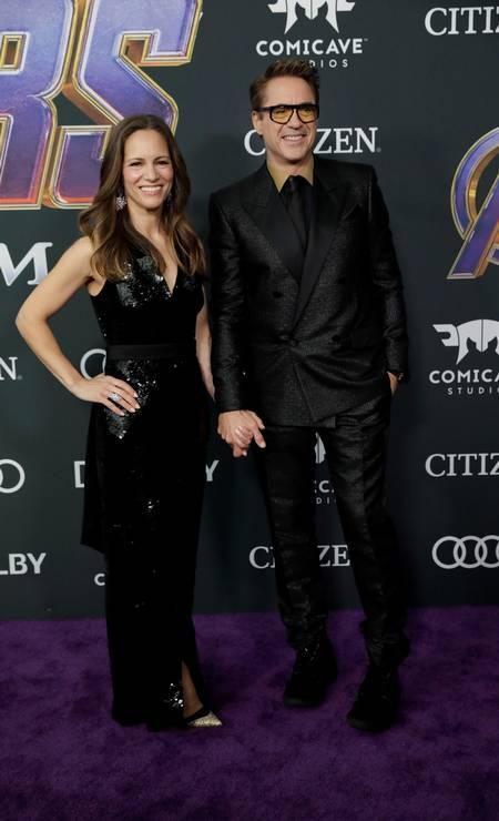 Robert Downey Jr., o Homem de Ferro, e a mulher, Susan Downey Foto: MONICA ALMEIDA / REUTERS