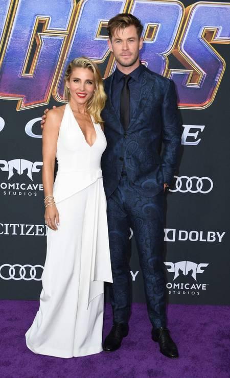Chris Hemsworth (Thor) e a mulher, Elsa Pataky Foto: VALERIE MACON / AFP